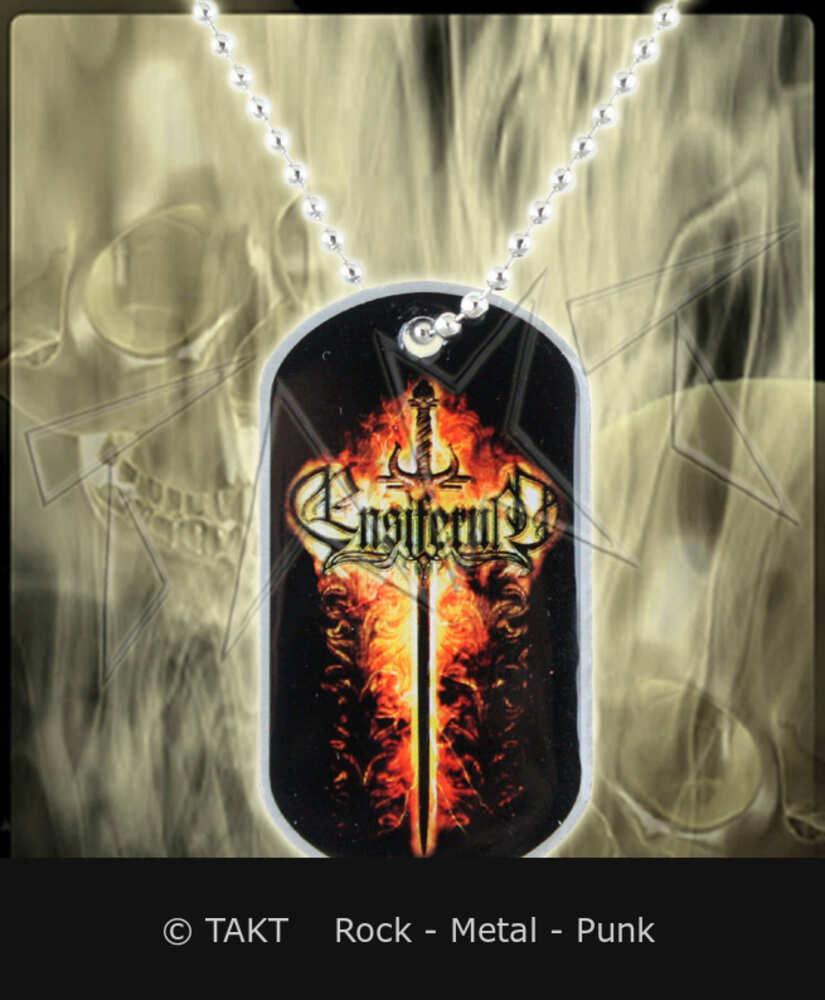 Kovový přívěšek na krk Ensiferum - sword