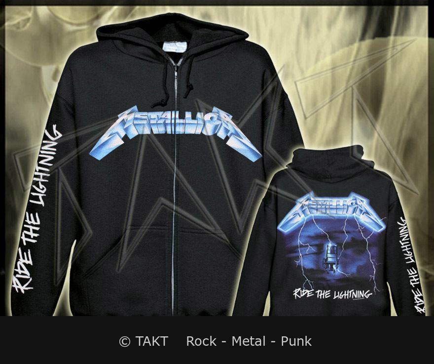 Mikina se zipem Metallica - ride The Lightning Imp.  All Print