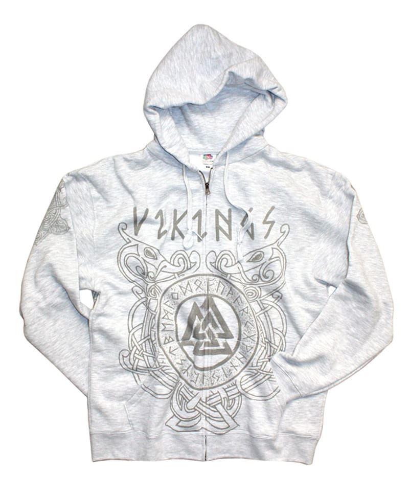 Mikina se zipem Viking 11 - odyn Grey