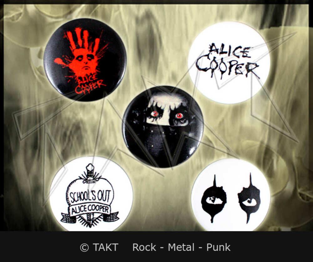 Placka Alice Cooper - eyes sada 5 ks