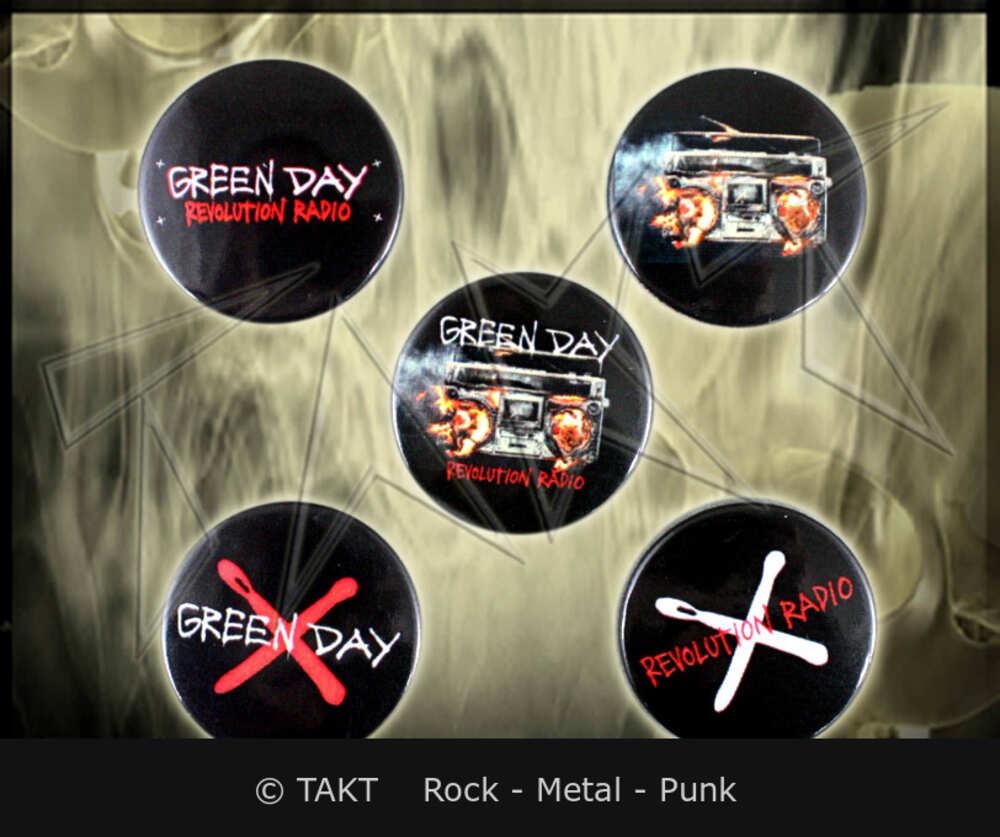 Placka Green Day - revolution Radio sada 5 ks
