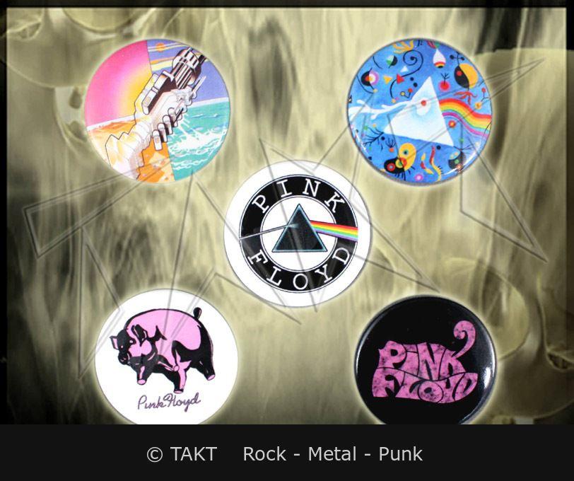 Placka Pink Floyd - prism sada 5 ks