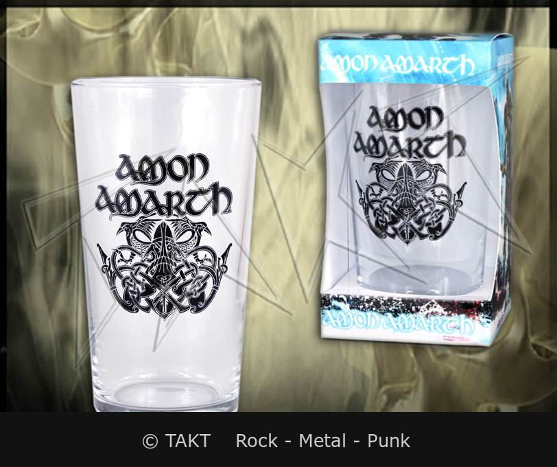 Sklenka na pivo Amon Amarth - logo