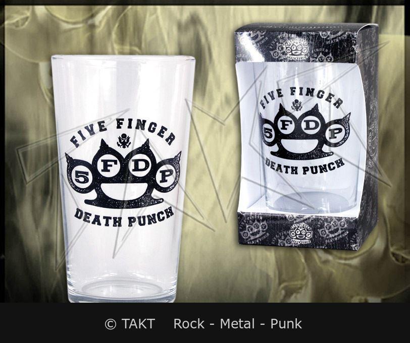 Sklenka na pivo Five Finger Death Punch - knuckle