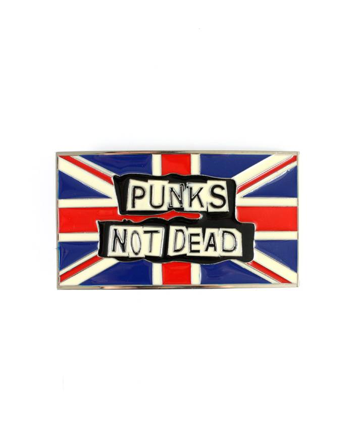 Spona na opasek Punks Not Dead Vlajka Uk