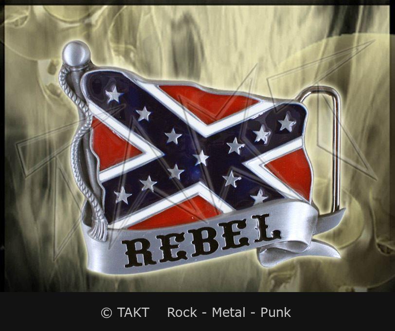 Spona na opasek Vlajka Konfederacji 02 Rebel
