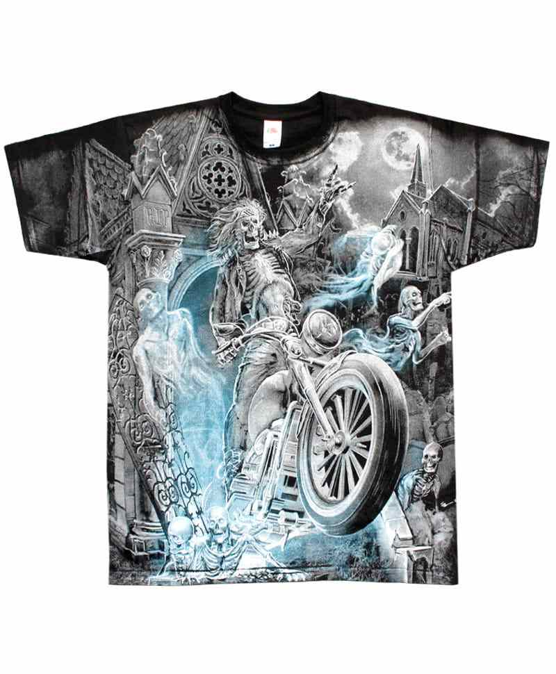 Tričko Biker From The Grave All Print