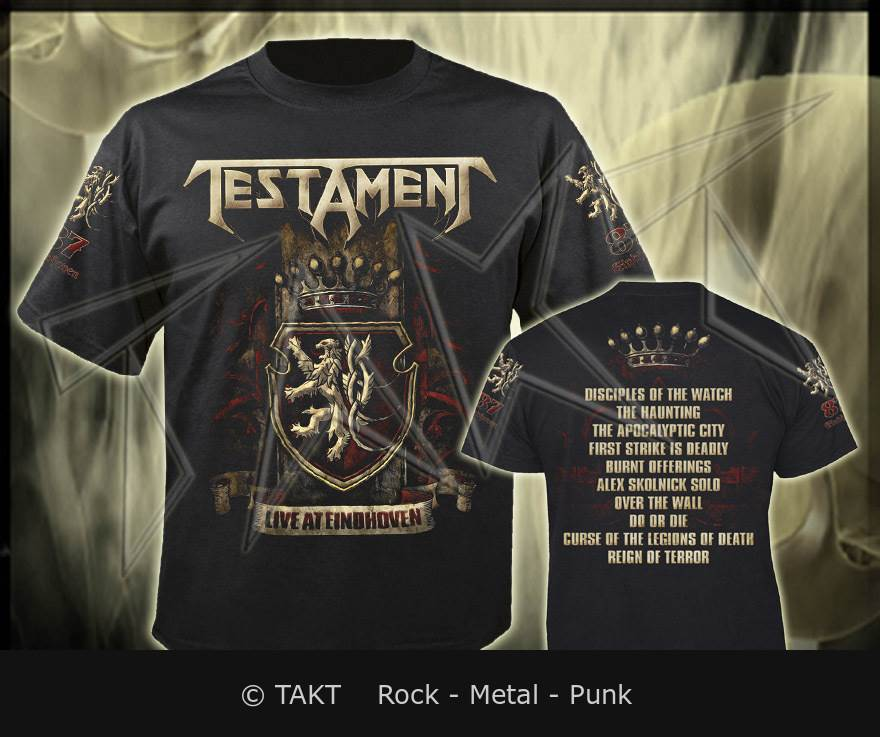 Tričko Testament - live At Eindhoven Imp.