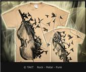 Tri�ko Bass Crows All Print Beige