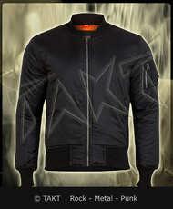 Bunda Flek Bomber Jacket bez limce černá