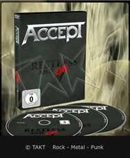 DVD +  2CD Accept - restless And Live Blind Rage Digipack - 2017
