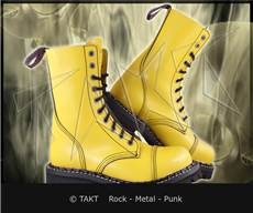 Kožené bot Steadys 10 dírkové Full Yellow/ žluté