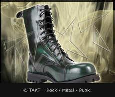 Kožené boty 10 dírkové Alter Core 551 zeleno/ černé