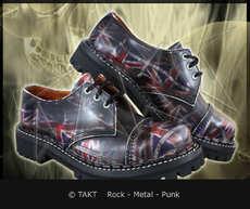 Kožené boty 3 dírkové Steadys Uk Black