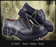 Kožené boty Steadys 3 dírkové - Black/ Černé