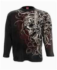 Longsleeve Skull Shoulder Wrap Imp.  All Print