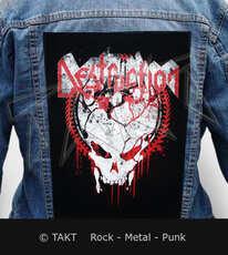 Nášivka na bundu Destruction - grind Skull