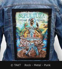 Nášivka na bundu Sepultura - machine Messiah