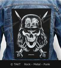 Nášivka na bundu Slayer - wehrmacht Skull