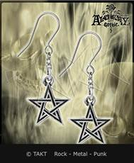 Náušnice Alchemy Black Star Pentagram