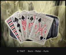 Pásek kožený se sponou pokr karty