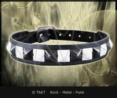 Pásek na krk 1 - řadový Bílo Černý