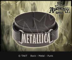 Pásek na ruku kožená Metallica - logo Alchemy