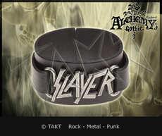 Pásek na ruku kožená  Slayer - logo Alchemy