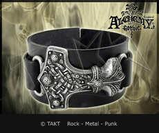 Pásek na ruku kožená Thorovo kladivo