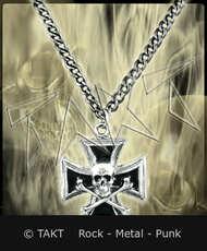 Přívěšek Kříž 59 Lebka s kostmi