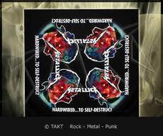 Šátek Metallica - handwired.  .  .  To Self - Destruct