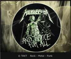 Slipmat Metallica - .  .  .  And Justice For All - dekorace do gramofonu