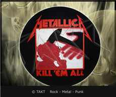 Slipmata Metallica - kill em All dekorace do gramofonu