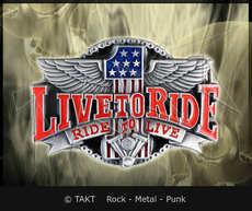 Spona na opasek Live To Ride