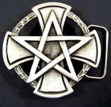 Spona na opasek Pentagram a Kříž