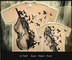 Tričko Bass Crows All Print Beige