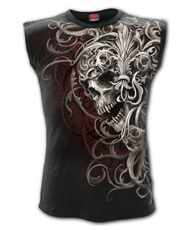 Tričko bez rukávů Skull Shoulder Wrap Imp.  All Print
