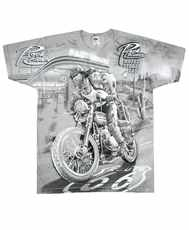 Tričko Desert Rider All Print Grey