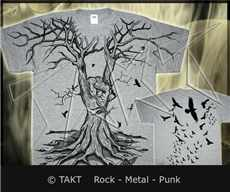 Tričko Rock On Tree All Print Grey
