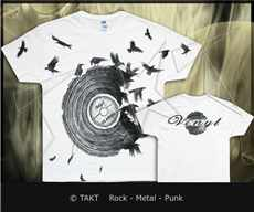 Tričko Vinyl Crows White