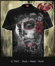 Tričko Skull Roses  - Imp.  Spiral Direct