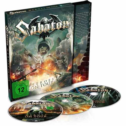 2DVD+ CD Sabaton - heroes On Tour Digipack - 2016