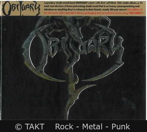CD Obituary - obituary Digipack - 2017