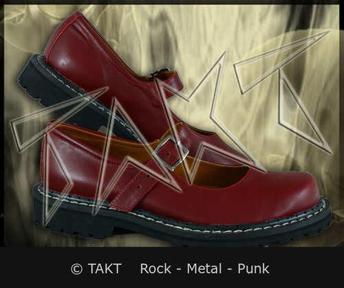 Dámské polobotky Street Boots Rock Bordo