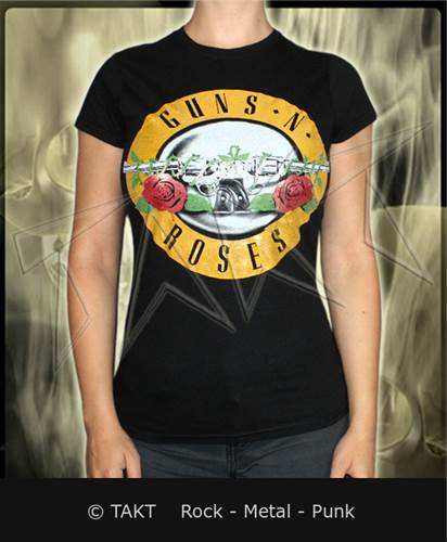 Dámské tričko Guns N Rroses - logo 3 Fog Foil Imp.