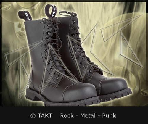 Kožené boty 10 dírkové Alter Core 551 Black/ Černé