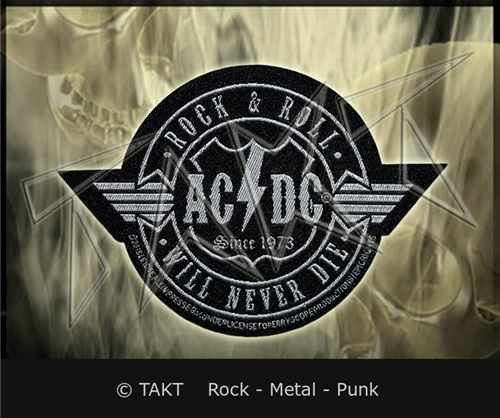 Nášivka Ac/ dc - rock Roll Will Never Die