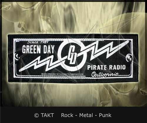 Nášivka dlouhá Green Day - pirate Radio