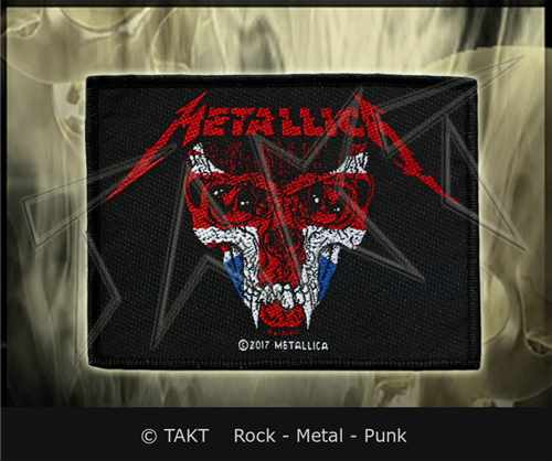 Nášivka Metallica - uk Skull