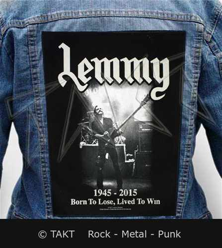 Nášivka na bundu Lemmy - lived To Win